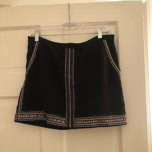 Madewell Embroidered Embellished Mini Skirt